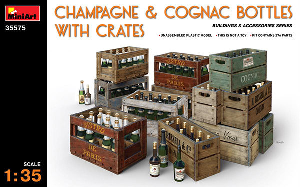 MiniArt 1/35 Champagne & Cognac Bottles With Crates